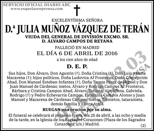 Julia Muñoz Vázquez de Terán